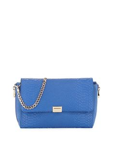 Morandi Snake-Embossed Leather Clutch Bag, Cobalt by Pour la Victoire at Neiman Marcus Last Call.
