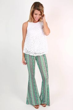 Travel in style in these chic flare pants!