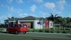 3 Bedroom House Plan - My Building Plans South Africa Architect Fees, Single Storey House Plans, Construction Drawings, Marketing Budget, Bedroom House Plans, Building Plans, Windows And Doors, Mj, South Africa