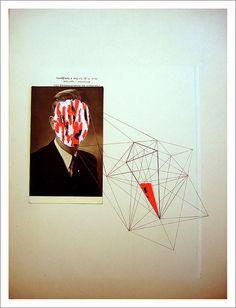 eva eun-sil han   { never_mind_him  -}  collage_cut+paste_crayon gris_sur papier trouvé  37.7 cm x 28 cm ( 14.8'' x 11'' )  experiment * geometric lines
