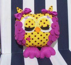 Ready To Ship  Handmade Sleepy Owl Stuffed Owl by PlushiesTemple