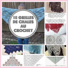 MES FAVORIS TRICOT-CROCHET: 18 grilles de châles au crochet                                                                                                                                                     Plus
