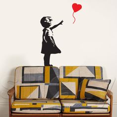 Wall Sticker by Sticky! Street Art Banksy, Graffiti Art, Bansky, Wall Sticker, Art Photography, Stickers, Artwork, Inspiration, Piercings