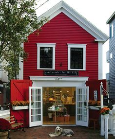 Red farmhouse turned shop.  Good Scents for the Body in Provincetown, MA.