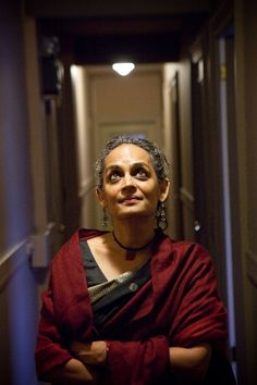 Arundhati Roy, the author of 'God of little things', a world famous Social Activist.