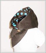 Kapuzenschal Cord mit Fleece gepunktet - StoffAkzente Taschen und Accessoires