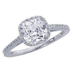 Amazon.com: 1.15 Carat GIA Certified Cushion Cut / Shape Gorgeous Halo Style Diamond Engagement Ring: Jewelry