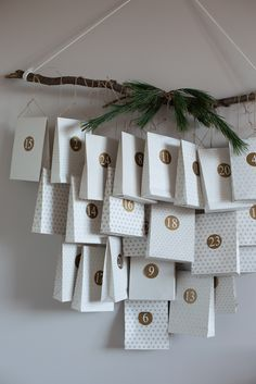 DIY Scandi Christmas Advent Calendar / My Scandinavian Home (bags and numbers from Nordal). : DIY Scandi Christmas Advent Calendar / My Scandinavian Home (bags and numbers from Nordal). Christmas Countdown, Christmas Calendar, Diy Advent Calendar, Diy Christmas Gifts, Homemade Advent Calendars, Christmas Ideas, Christmas Tables, Christmas Ornaments, Christmas Stockings