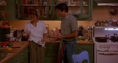 gorgeous home interior in this movie, especially the kitchen!...even thru all the 'mess'....lol...