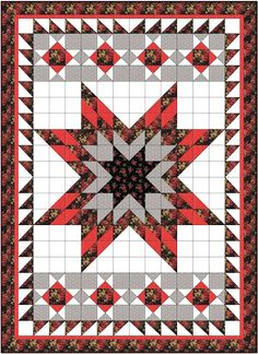 Busy Bee No. 16: Lone Star Quilt ... with Half Square Triangles