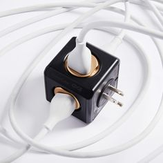 Edge Industry // PowerCube Original USB Surge Protected // Black + Gold // Limited Edition (Pack of 1)