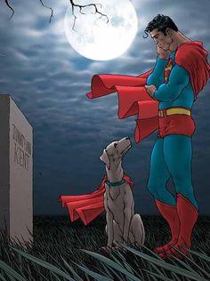 Superman e o Túmulo de Jonathan Kent.