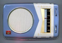 1959 Crown TR-800 coatpocket transistor radio