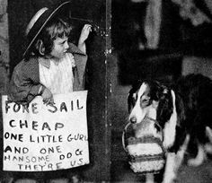 English: Still from the 1912 short film The Church Across the Way, featuring Helene Costello and Jean the Vitagraph Dog Caption: Adele and Jean set out to find a buyer The Motion Picture Story magazine - July 1912