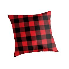 Buffalo plaid in red and black.  by linepush