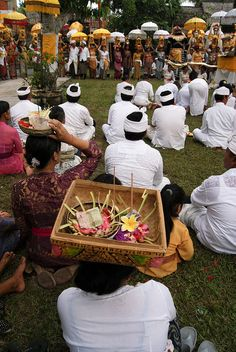 ceremony in bali, Indonesia