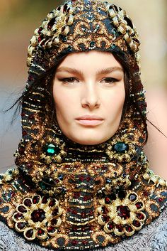 thefashionbubble:  Ophelie Guillermand | Dolce & Gabbana Fall/Winter 2014 Details, MFW.