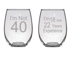 FREE SHIPPING I'm Not 40 I'm 18 with 22 Years by LightedBottle