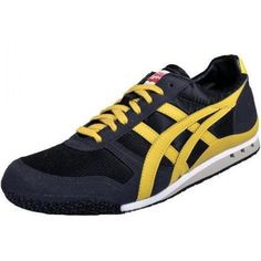 Onitsuka Tiger Ultimate 81 Black Yellow Suede Mens Trainers