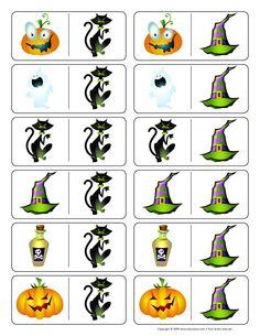 * Domino! 2-2 Halloween Games, Halloween Activities, Halloween 2017, Holidays Halloween, Halloween Kids, Halloween Crafts, Bricolage Halloween, English Games, Games For Kids