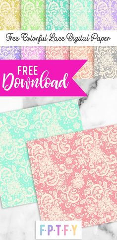 Free Colorful Lace Digital Paper