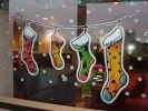 40 Wonderful Christmas Window Decor Ideas - You will find there are many different window stickers you can buy. Each of these will provide you with a way of decorating your home, car or even pla. Christmas Window Display, Christmas Window Decorations, Holiday Decor, Painted Windows For Christmas, Christmas Paintings, Christmas Art, Christmas Stockings, Christmas Ideas, Christmas Stickers