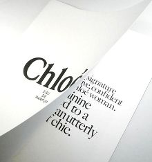 Chloe fash booklet, nice layout. This designer is cool.