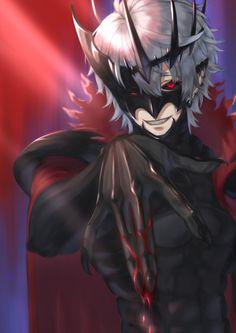 Game Character Design, Character Design Inspiration, Character Art, Demon King Anime, Demon Art, Evil Anime, Anime Devil, Anime Fantasy, Dark Fantasy Art