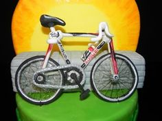 Bicycle 3D sugar paste