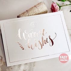 [ TREND ] Rose Gold Foil #foil #printing #graphic #invitation #fastprinting #wedding #australia #usa #uk #sticker #label #businesscard #specialist #FP
