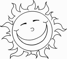 sun coloring pages 25 | Free Coloring Pages for Kids | Pinterest