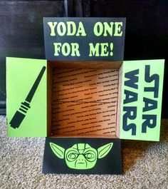 Check out this item in my Etsy shop https://www.etsy.com/listing/260685933/care-package-box-kit-star-wars-yoda-one