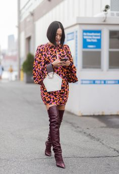 Opt for slouchy boots for the cold season ahead.