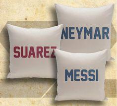 FC Barcelona 3 pillows set soccer football three by Solretroshirts