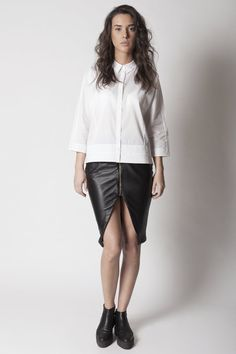 Etoile genuine leather skirt by AlchimieClothing on Etsy, €100.00