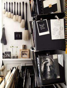 Danish Artist-Tenka Gammelgaard's Studio Images via Elle Deco UK, Oct. Art Atelier, Atelier Creation, Workspace Inspiration, Interior Inspiration, Colour Inspiration, Labo Photo, Dream Studio, Office Workspace, Artist Workspace