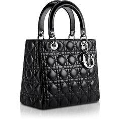 LADY DIOR Black Leather Bag