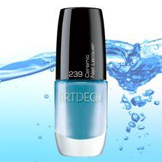 #ARTDECO Ceramic Nail Lacquer #blue #aqua #nails #nailsdesign #makeup #artdecomakeup #artdecocosmetics