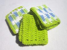 Cotton Dish Cloths or Wash Cloths  Set of by crochetedbycharlene, $12.00