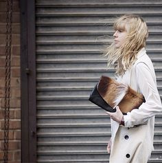 Lisa from Just Another Fashion Blog.. rocking our vest.  #street #style #fashion #blogger #nyc #addisonny