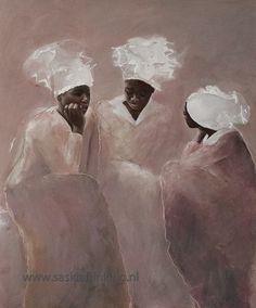African women chatting