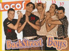 The Backstreet Boys' ages! From a website that will make even 20yo's feel old!