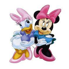 Minnie y Daisy Mickey Mouse Y Amigos, Mickey Mouse And Friends, Mickey Minnie Mouse, Disney Mickey, Disney Art, Disney Cartoon Characters, Disney Cartoons, Minnie Y Daisy, Daisy Duck Party