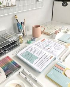 Study Desk, Study Space, Gestion Administration, Book And Coffee, Coffee Study, Studyblr Notes, Study Room Decor, Study Rooms, Study Organization
