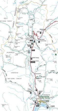 trail ridge road colorado map | RMNP Trail Ridge Road Map | Colorful ...