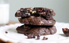Yammie's Noshery: Triple Chocolate Brownie Cookies