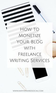 Here is how to monetize your blog quickly, efficiently, and without alienating your readers: offering freelance writing services. #freelancewriting
