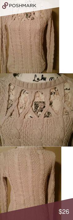 LC Lauren Conrad sweater sz. S Excellent Condition LC Lauren Conrad sweater with lace sz. S LC Lauren Conrad Sweaters