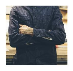 The Swift Mills Denim Utility Shirt