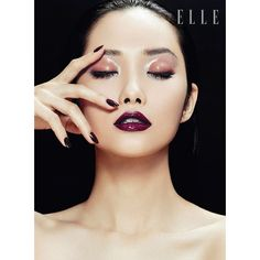 Kwak Ji Young Poses for Zhang Jingna in Elle Vietnam Beauty Feature ❤ liked on Polyvore featuring models, people, faces, makeup and beauty